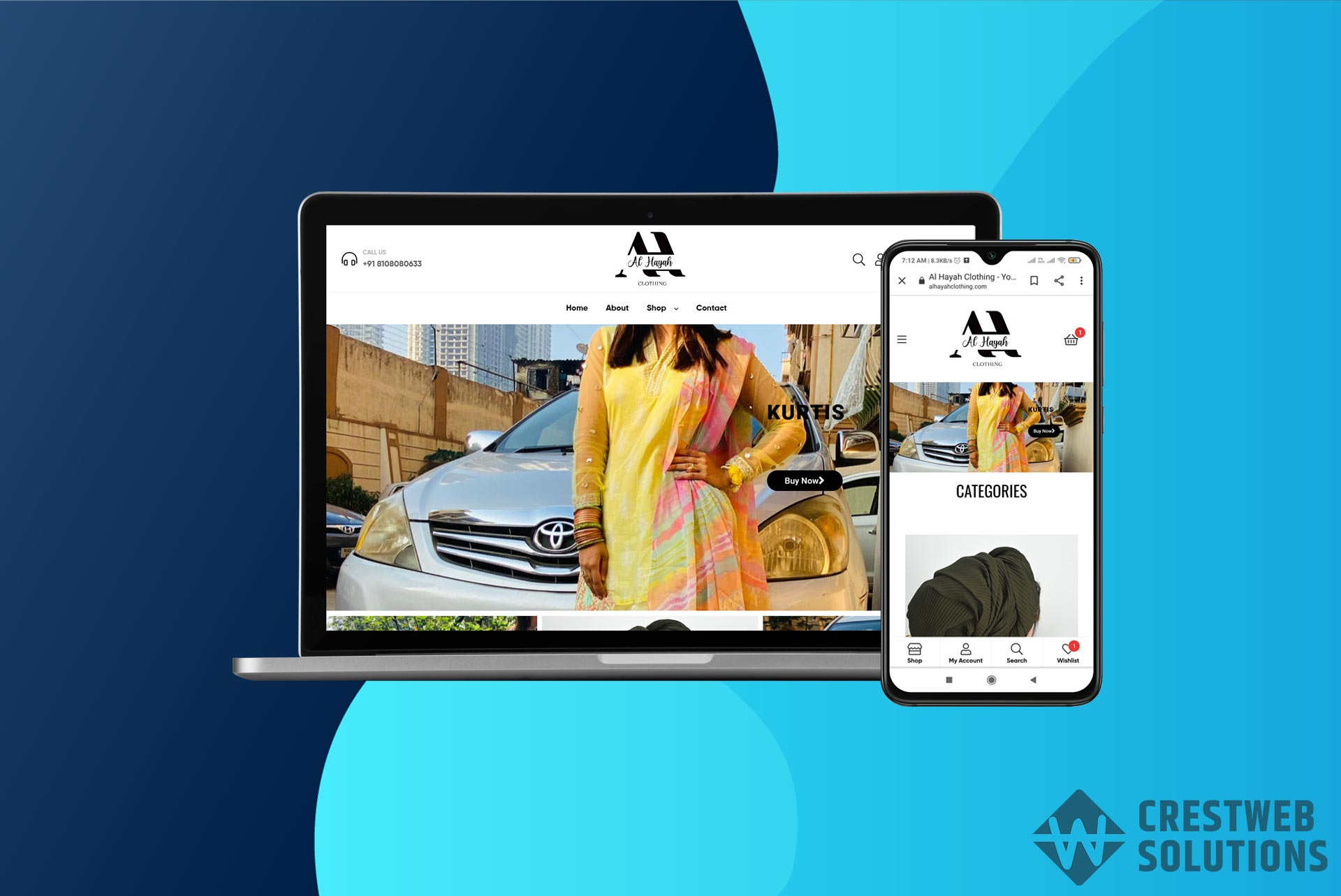 alhayah-clothing-respionsive-website-in-mumbai-ecommerce-crestweb-solutions