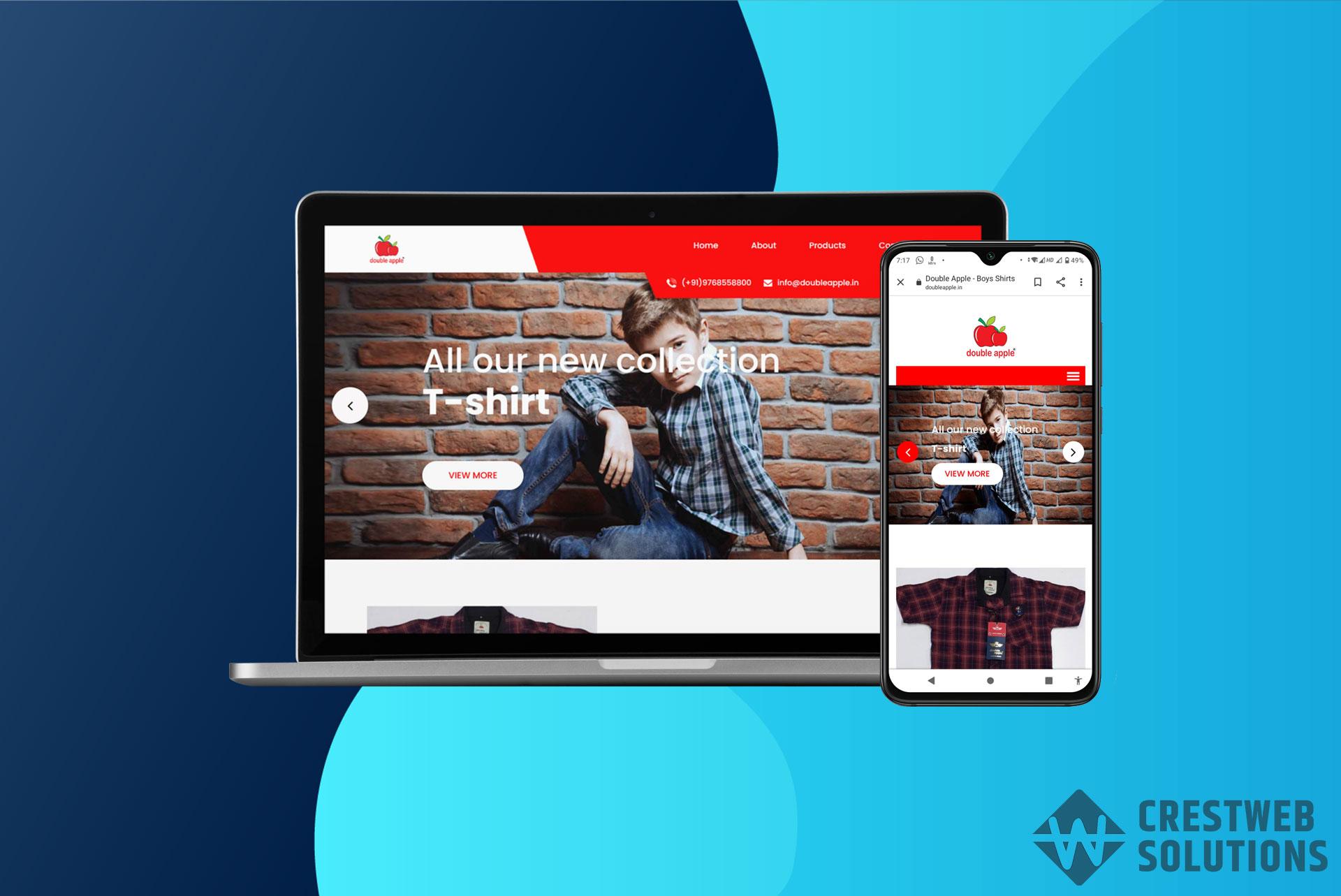 double apple respionsive website in mumbai ecommerce crestweb solutions